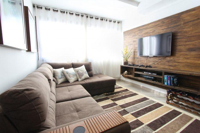 Compact condominium living room